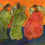 """""""Three Surrealism Pears"""" by BlendaStudio"""