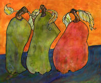 Three Surrealism Pears