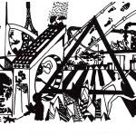 """""""Drawing of a city"""" by Flook"""