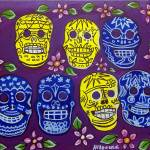 """Day of the Dead, Sugar Skulls - Mexican Folk Art"" by AVApostle"