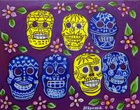 Day of the Dead, Sugar Skulls - Mexican Folk Art