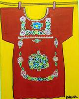 Girl's Dress - Mexican Folk Art