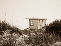 Beach Shack in Sepia