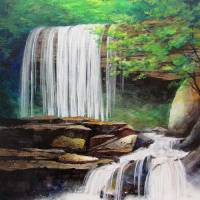 His Waterfall Art Prints & Posters by KIM KLOECKER