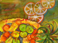 Pineapple Salad Art Painting