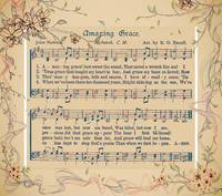 amazing grace floral frame