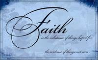 faith is graphic blue
