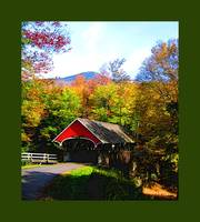 Flume Covered Bridge with large green border