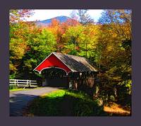 Flume Covered Bridge cropped w/ med violet border