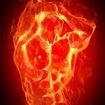 """fire guy"" by markashkenazi"