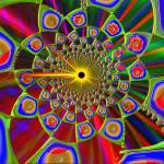 """Trip In Psychedelic 3d Optics"" by ReneeLozenGraphics"