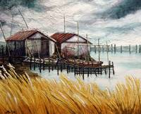 Huts by the Shore