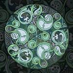 Celtic Stormy Sea Mandala by Kristen Fox