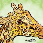 """8-8-13 Giraffe Completed"" by artinthegarage"