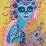 """""""Peacock Sugar Skull"""" by ArtPrints"""