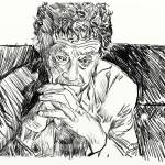 """Kurt Vonnegut sketch"" by cksample"
