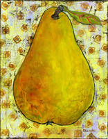 Yellow Pear On Squares