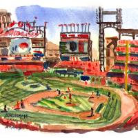 """Busch Stadium, April 13, 2013"" by michaelandersonartprints"