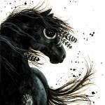 """Black Stallion Sprit Horse"" by AmyLynBihrle"