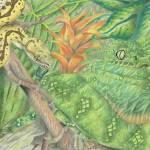 """Emerald Tree boas and Green Tree Python"" by LizardSpiritArt"
