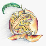 """Crested Gecko Yellow"" by LizardSpiritArt"