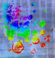 colored bubbles splatter