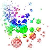 colored bubbles comic dots