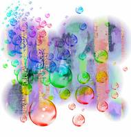 colored bubbles smears