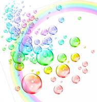 colored bubbles with rainbow2