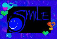 smile blue hearts