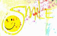 smile watercolor splatter