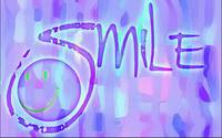 smile vibrant purple