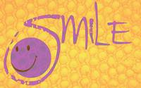 smile purple and orange texture