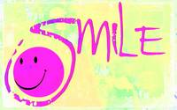 smile purple on yellow pastel