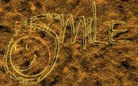 smile brass engrave