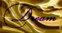 dream purple on gold satin