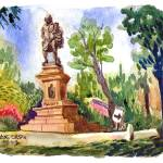 """Shakespeare Statue, Tower Grove Park, 08/11/2013"" by michaelandersonartprints"