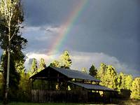 BARN AND RAINBOW