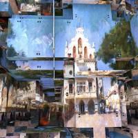 Resovia market puzzle Art Prints & Posters by Boguslaw Florjan