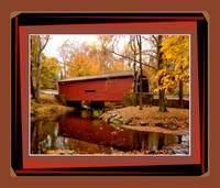Bartram's Covered Bridge & angled matching borders
