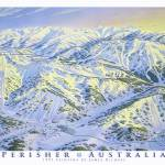 """Perisher Resort Australia"" by jamesniehuesmaps"