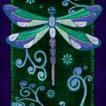 """Dragonfly Mystic Folk Art"" by ReneeLozenGraphics"