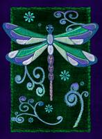 Dragonfly Mystic Folk Art