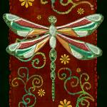 """Dragonfly 2 Mystic Folk Art"" by ReneeLozenGraphics"
