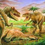 """Allosaurus Face-off"" by PhilWilson"