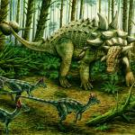 """Euoplocephalus & group of Stygimoloch"" by PhilWilson"