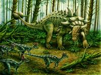 Euoplocephalus & group of Stygimoloch
