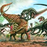 """Sauropelta & Utahraptors"" by PhilWilson"