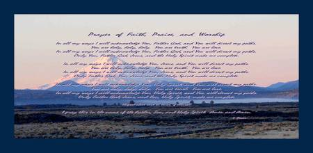 Prayer of Faith, Praise, and Worship large border