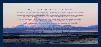 Prayer of Faith, Praise, & Worship small border